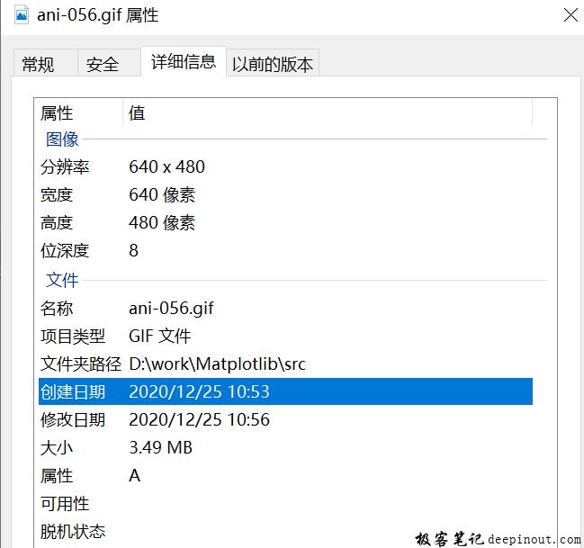 Matplotlib 输出gif文件