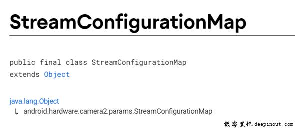 StreamConfigurationMap 概述
