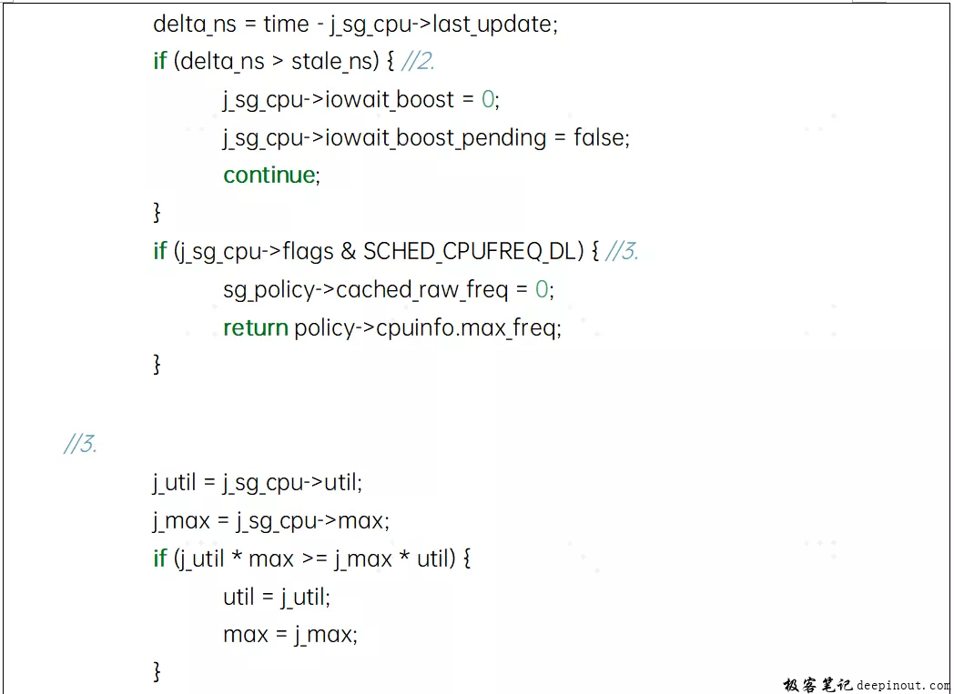 目标频率的计算- sugov_next_freq_shared函数