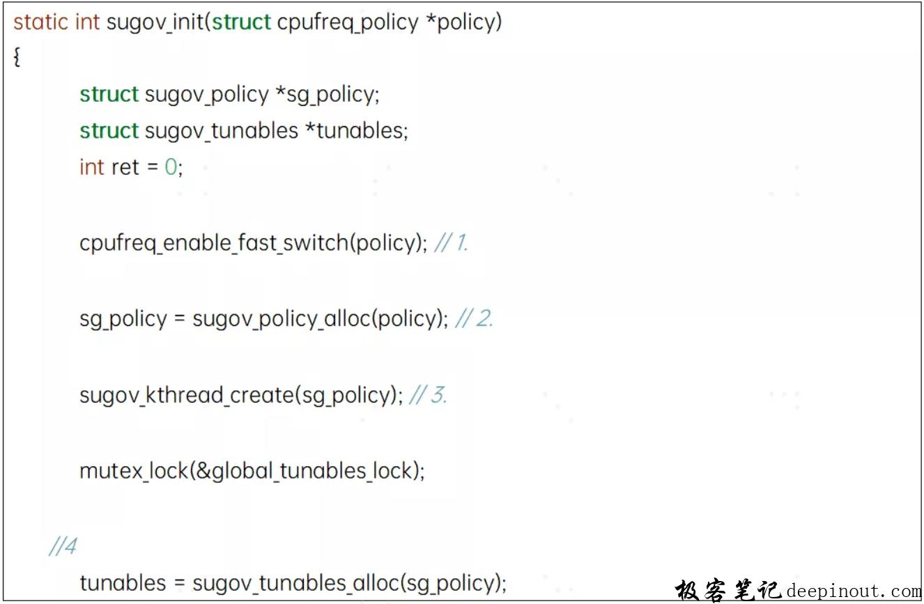 sugov_init函数
