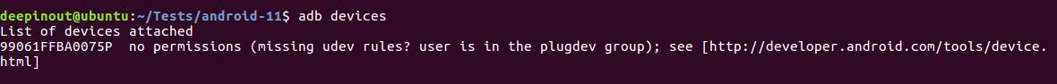 Ubuntu 16.04 adb devices : no permissions