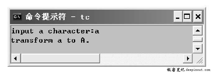 toupper()函数