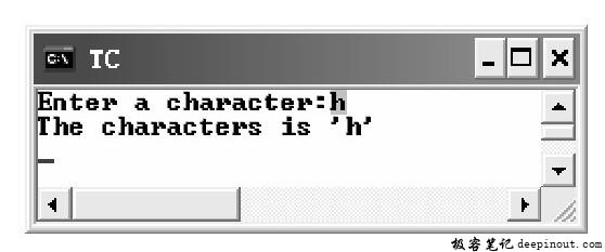 getche()函数 示例