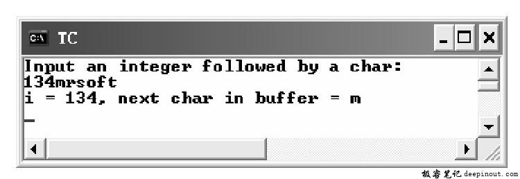 ungetc()函数 示例