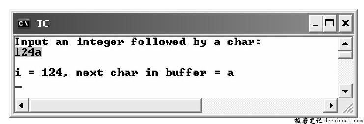 ungetch()函数 示例