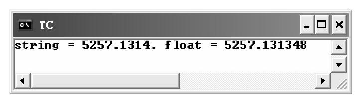 atof()函数 示例