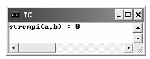 strcmpi()函数 示例