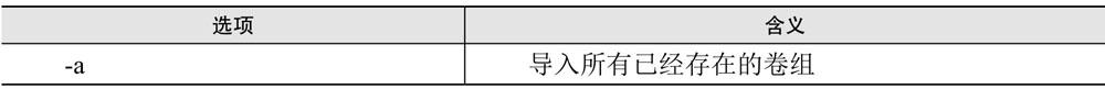 vgimport命令选项含义