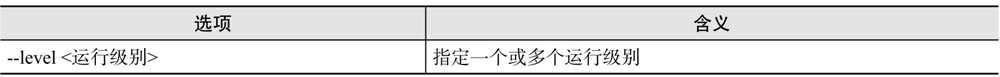 ntsysv命令选项含义