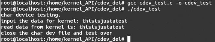 Linux内核API cdev_del