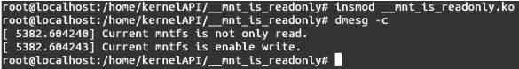 Linux内核API __mnt_is_readonly
