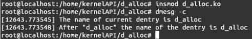 Linux内核API d_alloc