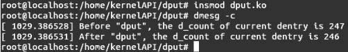Linux内核API dput