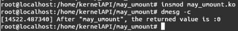 Linux内核API may_umount