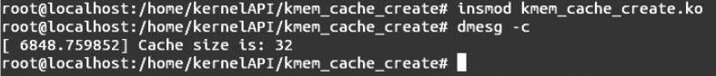 Linux内核API kmem_cache_create