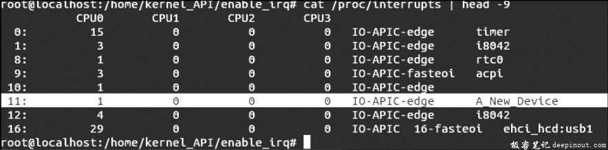 Linux内核API enable_irq