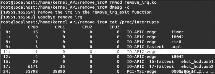 Linux内核API remove_irq