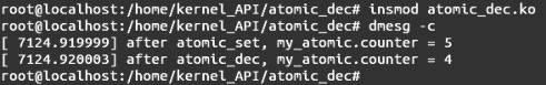 Linux内核API atomic_dec