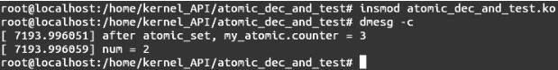 Linux内核API atomic_dec_and_test