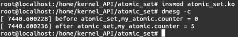 Linux内核API atomic_set