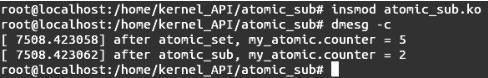 Linux内核API atomic_sub