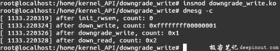 Linux内核API downgrade_write
