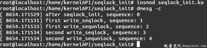 Linux内核API seqlock_init