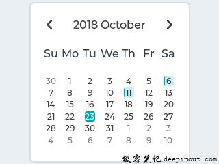 LVGL日历