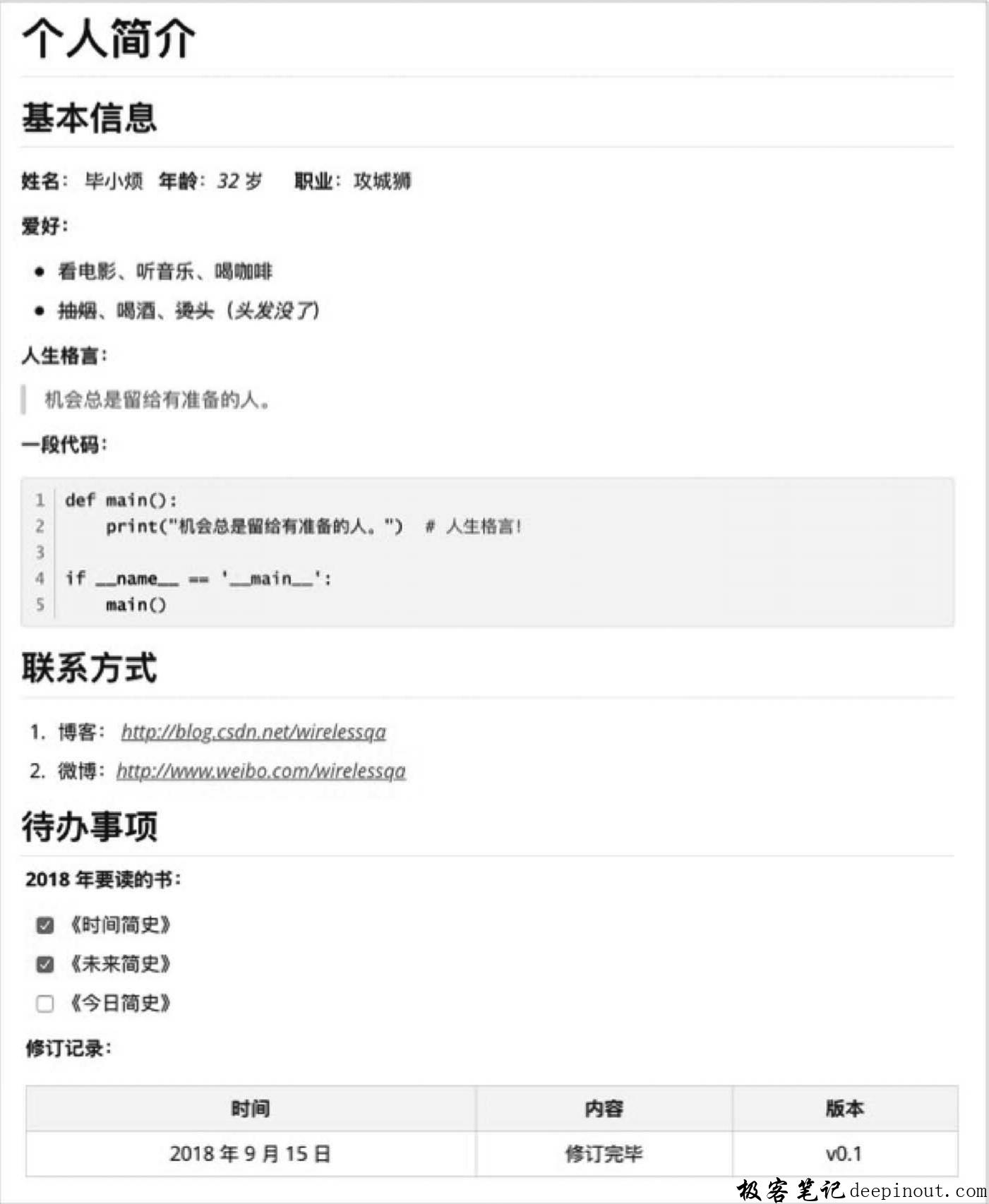 最流行的扩展语法GFM